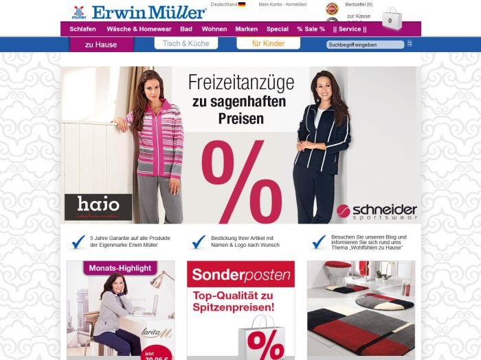 Erwin-Müller.de Onlineshop