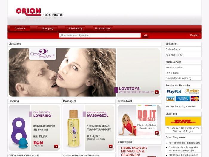 Orion.de Onlineshop