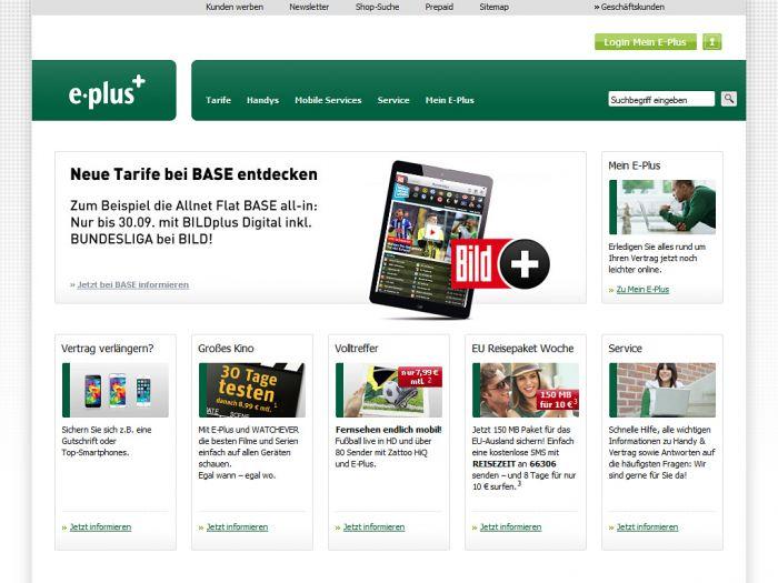 EPlus.de Onlineshop