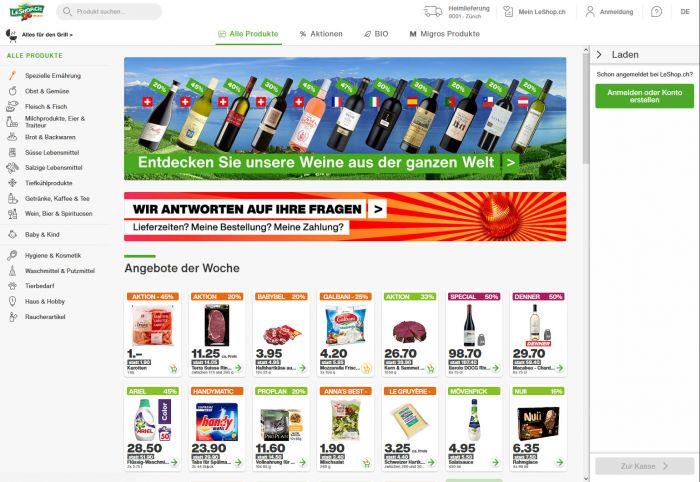 leshop.ch Onlineshop