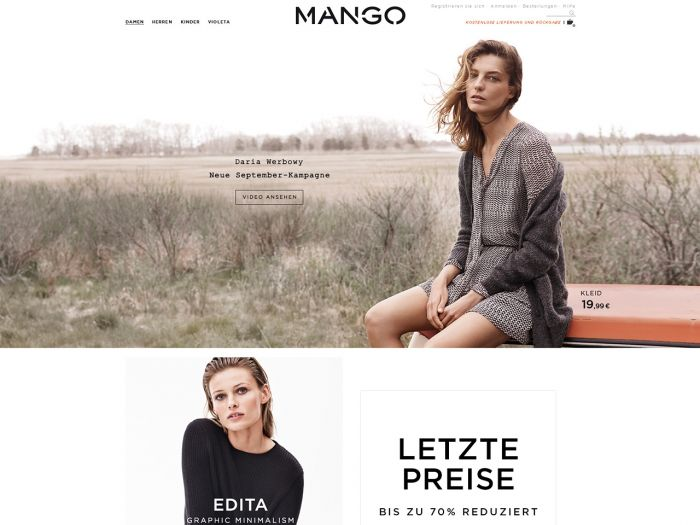 Mango.de Onlineshop