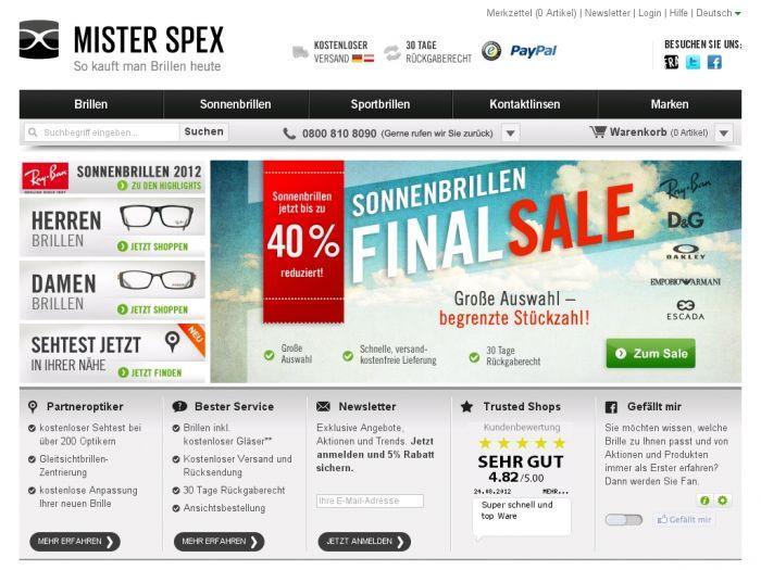 MisterSpex.de Onlineshop