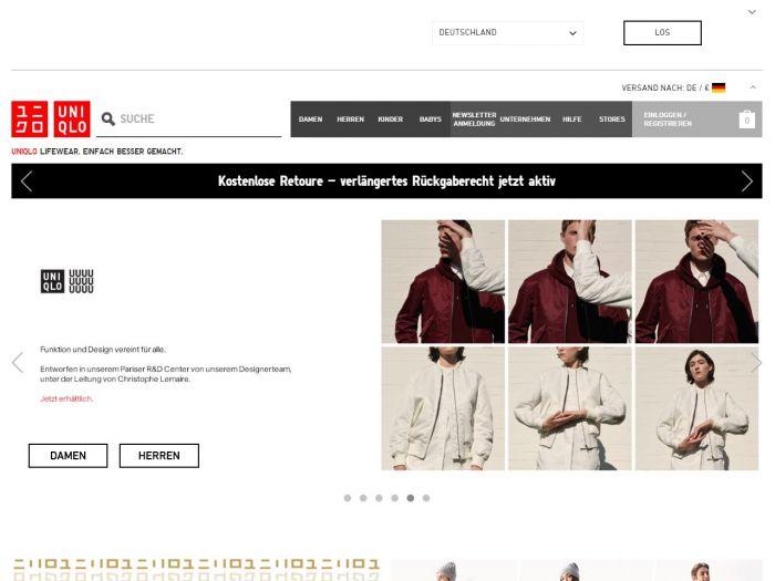Uniqlo.com Online Shop