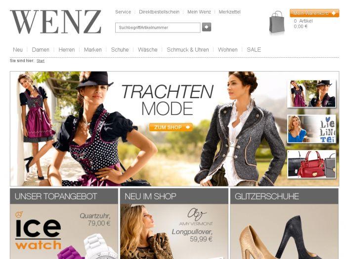 507d513eaa01 NEU: Wenz.de Onlineshop