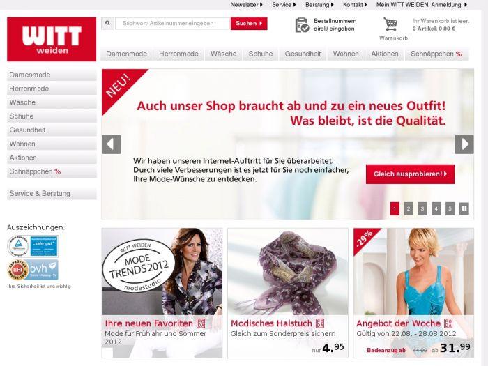 b3467663f2e439 Zum Anbieter » Witt-Weiden.de Onlineshop